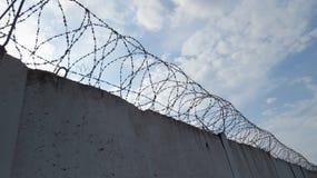 监狱墙壁背景 图库摄影