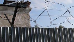 监狱墙壁背景 股票视频