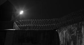 监狱墙壁 库存照片