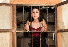 监狱妇女 免版税图库摄影