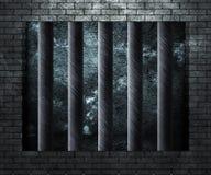 监狱牢房背景 库存图片
