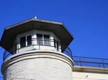 监狱监狱警卫法律监视的塔 库存照片