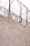 监狱s墙壁 免版税库存照片