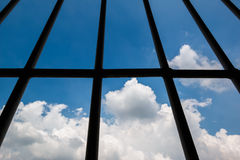 监狱Windows  图库摄影