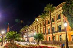 监督法院的住处,一个政府大厦在穆尔西亚市,西班牙 库存照片