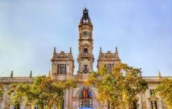 监督法院的住处,巴伦西亚,西班牙市政厅  免版税库存照片