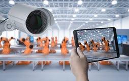 监视器在工厂 库存照片