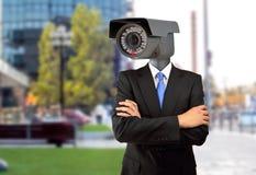 监视在城市 库存照片