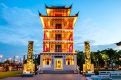 监视塔在泰国 免版税库存照片