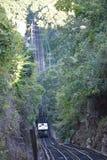 监视山斜面铁路在加得奴加,田纳西 免版税库存图片
