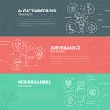 监视概念 免版税图库摄影
