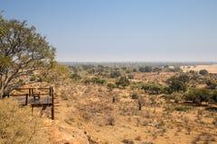 监视点在马蓬古布韦国家公园,南非 免版税库存图片