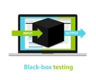 黑盒子测试输入-输出过程软件开发方法 向量例证