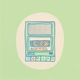 盒式磁带录音机 库存例证
