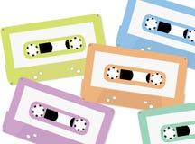 盒式磁带背景 免版税图库摄影