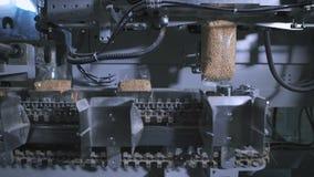 盒的工厂谷物和其他食品 那里包装的米