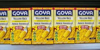 盒Goya黄色米 免版税库存图片
