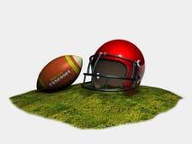 盔甲和橄榄球球 皇族释放例证