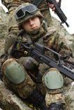 盔甲新纵向的战士 免版税图库摄影