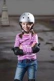 盔甲的路辗女孩 免版税库存图片