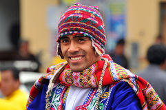 盖丘亚族人人的纵向 免版税库存图片