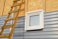 盖墙壁的房屋板壁 库存照片