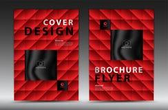 盖子模板设计,企业小册子飞行物,年终报告,mgazine广告,广告,书套布局,海报,编目,新闻 向量例证