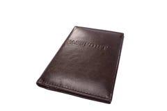 盖子皮革护照 免版税库存图片