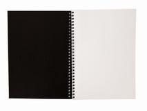 盖子设计学校企业日志的现实空白的笔记本模板 库存照片