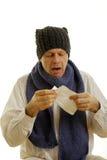 盖帽人围巾羊毛 免版税库存图片
