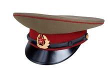 盖帽军事俄语 库存图片