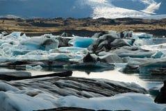 盖帽冰冰岛 库存照片