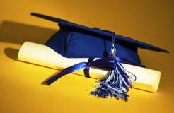 盖帽文凭毕业 库存照片