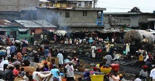 盖帽海地人市场 库存图片
