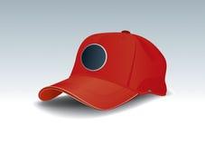 盖帽红色 皇族释放例证