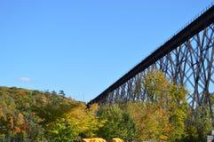 盖帽胭脂支架(Tracel)在魁北克,加拿大 免版税库存照片