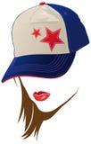 盖帽表面女性美国 库存图片
