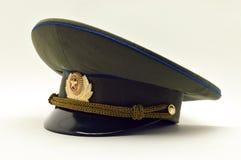 盖帽金子绿色军事红色俄语 免版税库存图片