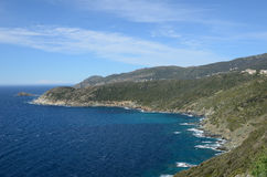 盖帽Corse海岸线  免版税库存图片