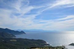 盖帽Corse海岸线  免版税库存照片