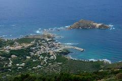 盖帽Corse风景 免版税库存图片