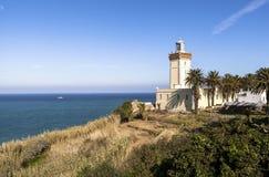 盖帽Spartel在唐基尔,摩洛哥 免版税库存图片