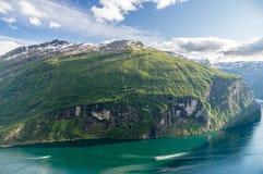 盖朗厄尔峡湾夏天视图,挪威 免版税库存照片