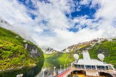 盖朗厄尔峡湾,挪威美丽的景色  免版税库存照片