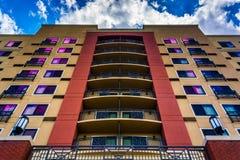 盖瑟斯堡的一家旅馆,马里兰 免版税库存照片