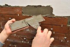 盖瓦墙壁 免版税库存图片