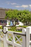 盖的村庄屋顶 图库摄影