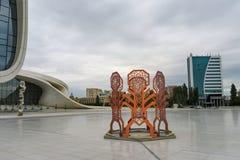 盖达尔・阿利耶夫中心,巴库,阿塞拜疆 图库摄影