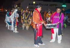盖洛普部落间的印地安仪式 库存照片