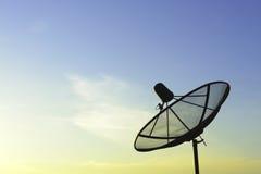 盘例证查出的卫星向量白色 免版税库存图片